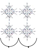4 Pcs Crystal Nipple Sticker Rhinestone Body Jewelry Stick On Women Bra Breast Pasties for Women Temporary Tattoos