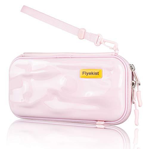 Bolsa de viaje para Switch Lite (resistente al agua, policarbonato), color rosa
