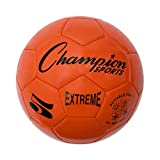 Extreme Series Soccer Ball, Regulation Size 5 - Collegiate, Professional, and League Standard Kick Balls - All Weather, Soft Touch, Maximum Air Retention - For Adults, Teenagers, Orange
