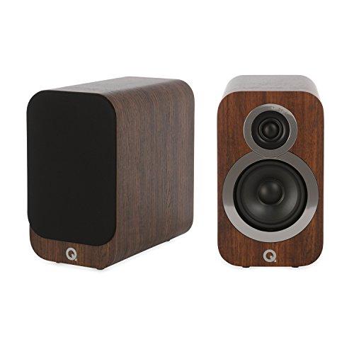 Q Acoustics 3010i - Par de altavoces compactos para estantería (nogal inglés)