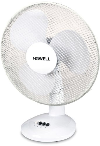 HOWELL VET301MQ Ventilatore da Tavolo, 40 Watt, Bianco, 30 cm, W