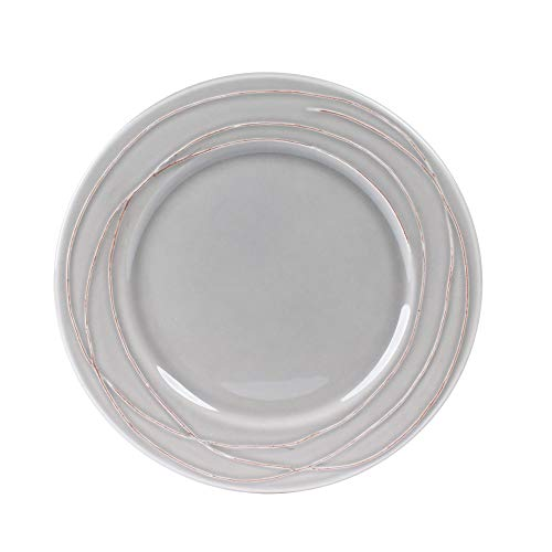 Table Passion - Assiette plate filia gris 27 cm (lot de 6)
