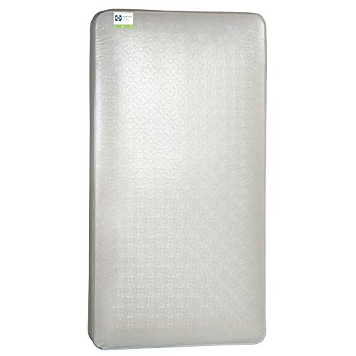 "Sealy Baby Posture Perfect 2-Stage Dual Firmness Hybrid Waterproof Standard Toddler & Baby Crib Mattress - Soybean Memory Foam & 150 Premium Coils, 51.63"" X 27.25"""