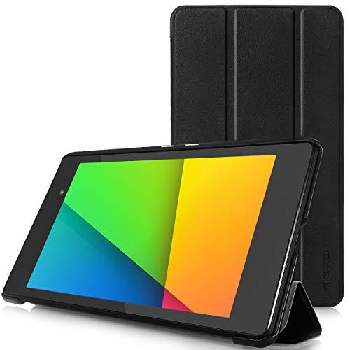 MoKo Ultra Slim Ligera Smart-Shell Funda Compatible con Google Nexus 2 7.0 Pulgadas 2013 Generación Android 4.3 Tableta, Negro (con Cierre Magnético para Reposo Automático)