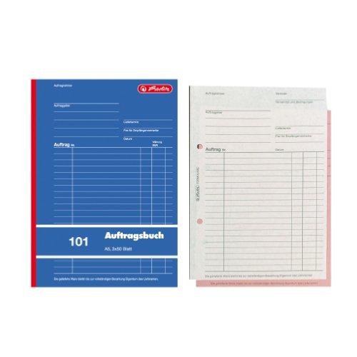 Herlitz 880518 Auftragsbuch A5 101 3x50 Blatt