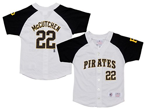 Outerstuff Andrew McCutchen Pittsburgh Pirates #22 White Girls Youth Player Fashion Jersey (X-Small 4/5)