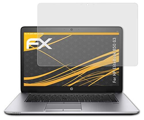 atFolix Panzerfolie kompatibel mit HP EliteBook 850 G3 Schutzfolie, entspiegelnde & stoßdämpfende FX Folie (2X)