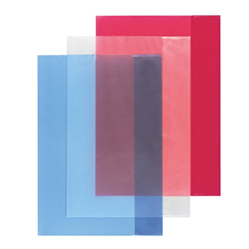 Herlitz Hefthülle A4 transparent, 3 Stück in PP-Beutel, farbig sortiert