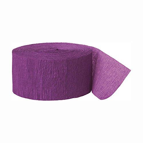 Crêpepapier luchtslingers 250ft paars