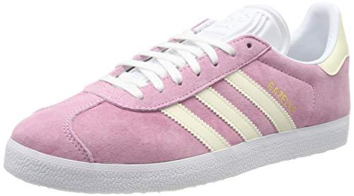 adidas Gazelle W, Chaussures de Gymnastique Femme, Rose (True Pink/Ecru Tint S18/Ftwr White), 36.5 EU
