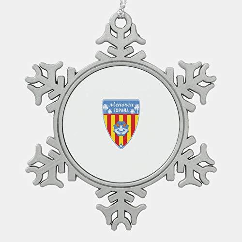 JamirtyRoy1 - Decoración navideña de Menorca Spain, decoración de árbol de Navidad, decoración para el hogar, regalo de Navidad de 3 pulgadas