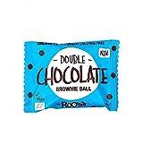 RooBar Bolita De Brownie Doble De Chocolate Ecológica - Vegetariano, Vegano, Paleo - 40 G