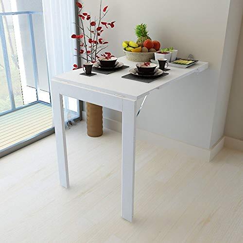 Py YP Klapptisch – Klapptisch zur Wand zum Klappen, Multifunktionstisch für Kinder, Esstisch für Küche, Wandtisch, Bilderrahmen zusammenklappbar, 90 x 60 cm., Weiß