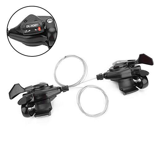 VGEBY 1 Paar Fahrrad-Schalthebel, 3X7 / 8/9-Gang-Fahrrad-Schaltwerk Gang-Links- / Rechts-Schaltung (3x7 Geschwindigkeit) - 3
