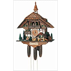 Schneider 23.5 Black Forest Chalet with Moving Beer Drinkers, Waterwheel, Kissing Couple and Ringing Bell