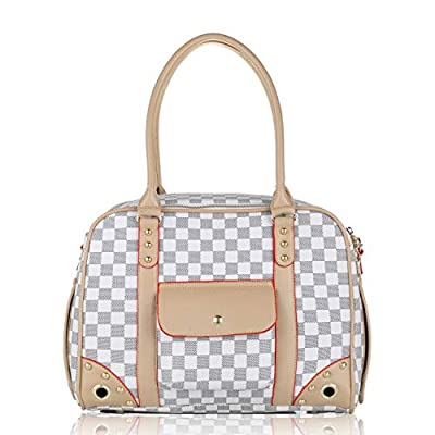 BELLAMORE GIFT puppy dog chihuahua rabbit cat pet carrier cages for travel medium handbag puppy gift bag (15.7x11.8x7.9inch) by BELLAMORE GIFT LIMITED