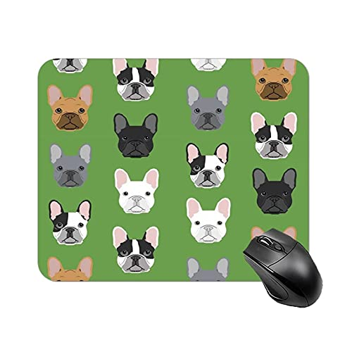Green Frenchie Dog Mouse pad pad Non-Slip 9.8X 11.8 Inch