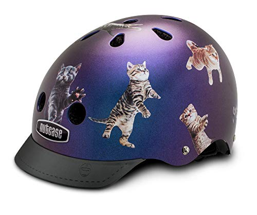 Nutcase Street - Space Cats Helm, Mehrfarbig, Taille : M