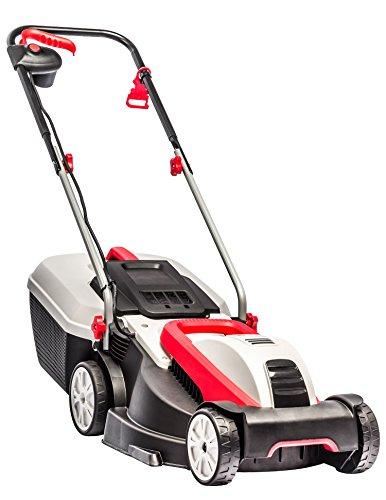 AL-KO Elektro-Rasenmäher 3.82 SE Classic, 38 cm Schnittbreite, 1.400 W Motorleistung, für Rasenflächen bis 500 m², Schnitthöhe 3-fach verstellbar, inkl. 37 l Fangkorb mit Füllstandsanzeige