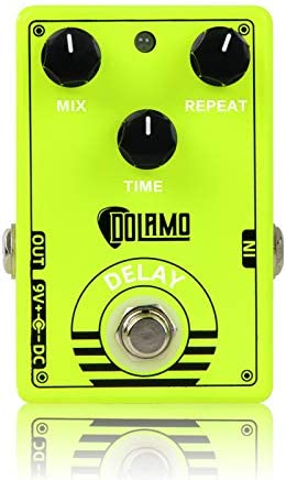 Delay Guitar Effect Pedal Mix Repeat and Time controls Guitar Effect Pedal with True Bypass product image