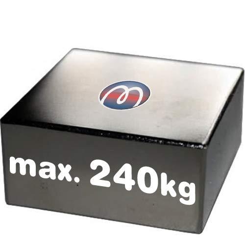Imán Rectángulo Bloque magnético Neodimio - 60 x 60 x 30mm - Neodimio N45 (NdFeB) Níquel - Fuerza de sujeción 240 kg - Imanes permanentes super potentes de Tierras Raras para la industria y el hogar