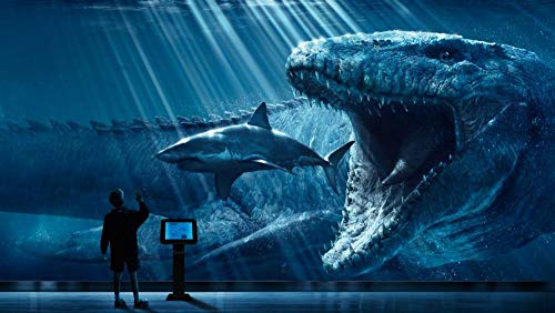Puzzle 1000 Piezas Personalizado 3D Infantiles 8 Años Educa Madera Adultos Arte Paisajes Placeres Decoracion/Jurassic World Mosasaurus Submarino