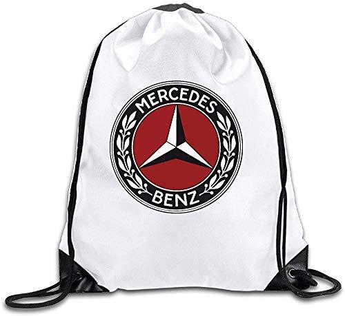 asegy Adult Drawstring Bags Mercedes Benz Symbol Shoulder Sackpack Backpack