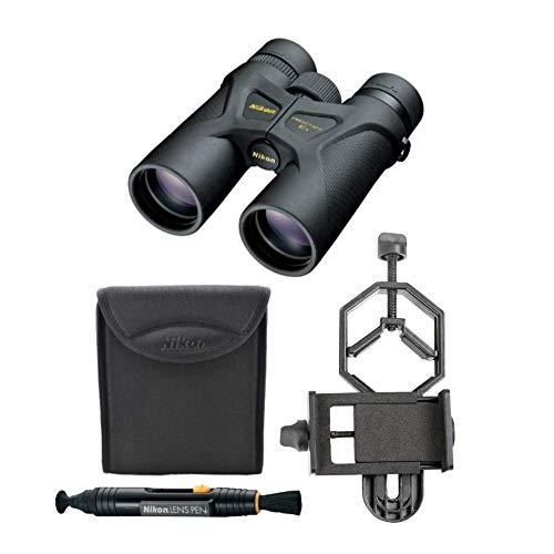 Nikon 8x42 ProStaff 3S Binoculars (Black) with Smartphone Adapter Lens Cleaning Pen Bundle (3 Items)