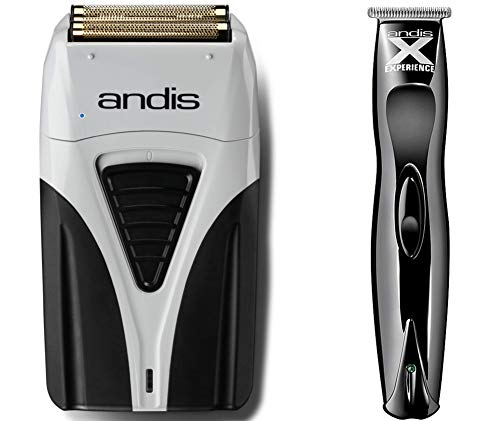 Andis Profoil Lithium Plus Shaver & Andis Experience Exclusive T-Blade Cord/Cordless Trimmer Combo