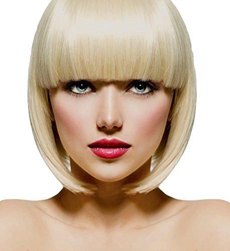 VANESSA GREY Toutes les couleurs disponibles, Pince Cheveux Super Frange Vraiment Naturelle Blond TrÈs Clair