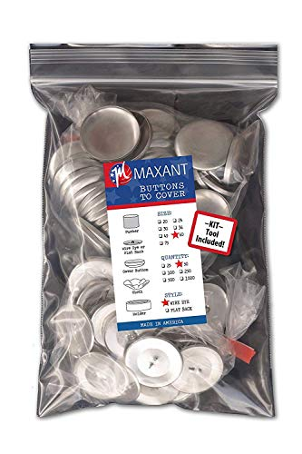 100 Chapas para hacer tus propias botones con ojales – tamaño 60 (38mm) con herramientas…