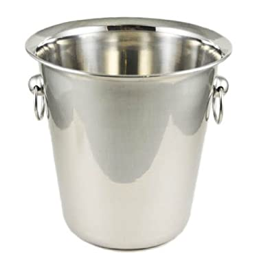 Winco WB-4 4 Quart Wine Bucket,stainless steel,Set of 3
