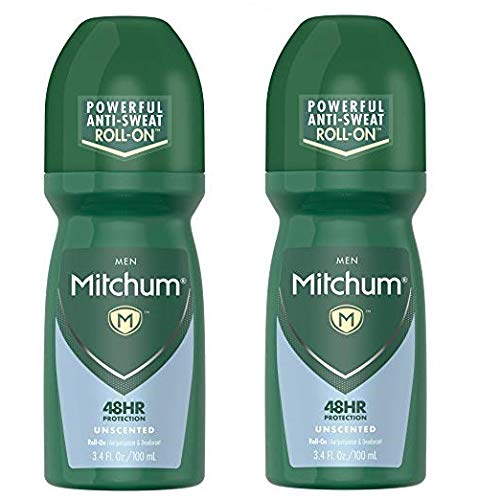 Mitchum Invisible Anti-Perspirant & Deodorant Roll-On, Unscented 3.4 oz (Pack of 2)