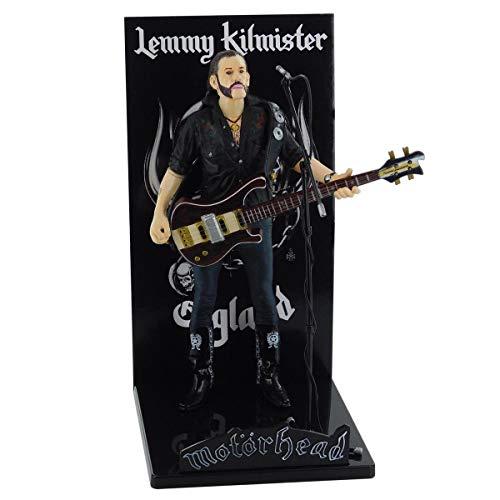 Locoape Motorhead Lemmy Kilmister Deluxe Figur Rickenbacker Gitarre Dunkles Holz