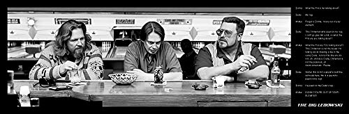 Poster stampa The Big Lebowski Movie (You're Out of Your Element, Citazioni), 30 x 91 cm