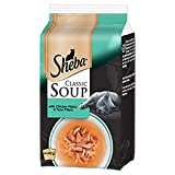 Sheba Classic Soup with Chicken and Tuna Fillets – Complementary adult cat food – 48 x 40 g
