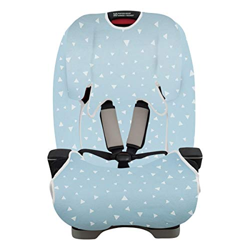 JANABEBE Cover  Liner Compatible with Car Seat Graco Blue Sparkles Graco Milestone