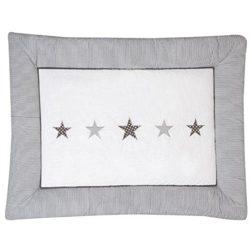 Schardt Krabbeldecke mit Stickerei 100x135 cm Stern grau