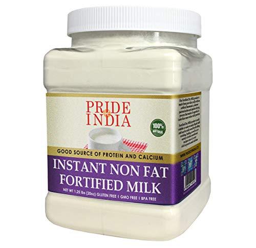 Pride Of India - Instant versterkte magere droge melkpoeder - verrijkt met vitamine D, proteïne en calcium - 1 lbs (16oz) pot