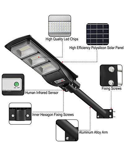 LOVUS Solar Street Light 2 Pack, 6000LM LED Solar Power Street Lamp Outdoor Dusk to Dawn for Parking Lot, Yard, Garage and Garden, ST60-039-2