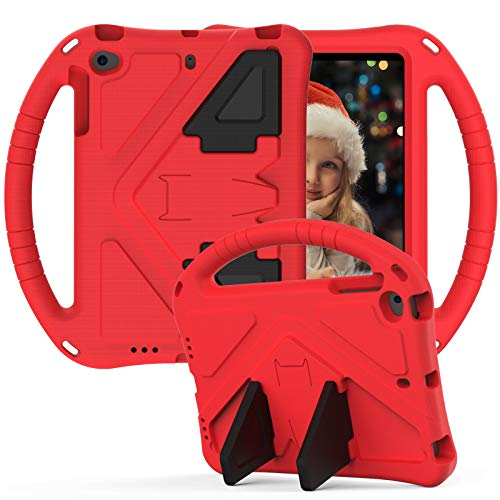 ZHENGNING Protective Case For iPad Mini 1 2 3 4 5 Case, for Kids Eva Shockproof Lightweight Dropproof Stand Tablet Case, With Large Handle Rugged Protective Case Tablet Slim Cover Shell (Color : Red)