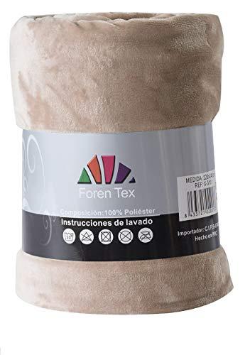 Foren Tex - Manta de sedalina, (XL-3096), Ultra Suave, microseda, para abrigarte con Estilo y Confort, 270 x 230 cm No Suelta Pelo. para sofá y Cama.
