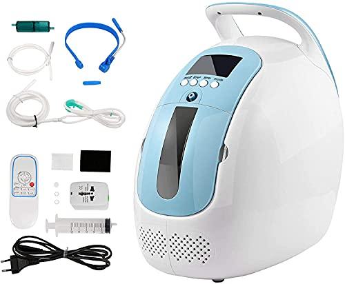 Tragbarer Sauerstoffkonzentrator,HUKOER 1-5 l/min Einstellbare tragbare Sauerstoffmaschine 93%...