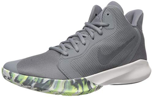 Nike Precision III Basketball Shoe, Cool Grey/Dark Grey-Platinum Tint, 9 Regular US