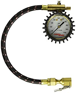 5-60 PSI Swivel Angle Chuck Dial Tire Pressure Gauge with Hose Accu-Gage H60XA