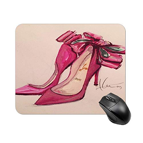 Gaming Mouse Pad Pink Heels Design Art Desktop and Laptop 1 Pack 25x20x2cm/9.8x7.9x0.8inch