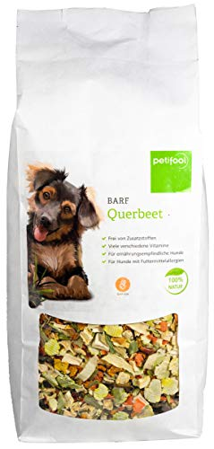 petifool Barf Querbeet für Hunde 1kg - Gemüseflocken als Barf Ergänzungsfutter - Naturprodukt ohne künstliche Zusätze - glutenfreies & getreidefreies Hundefutter - Barf Zuatz - Barfen für Hunde
