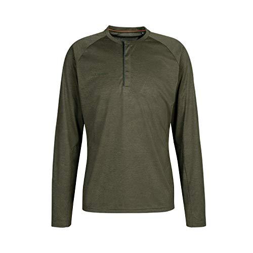 Mammut Crashiano T-Shirt à Manches Longue Homme, Iguana Melange, FR : 2XL (Taille Fabricant : XXL)