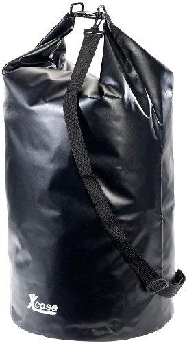Xcase Seesack wasserdicht: Wasserdichter Packsack 70 Liter, schwarz (Outdoor Packsack)