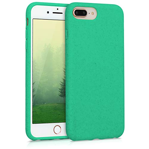 kalibri Cover Compatibile con Apple iPhone 7 Plus / 8 Plus - Custodia in Silicone e Paglia - Backcover Matt Anti-Impronte - Menta